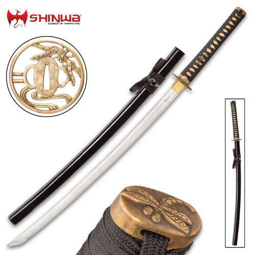 Shinwa Black Dragonfly Katana And Scabbard
