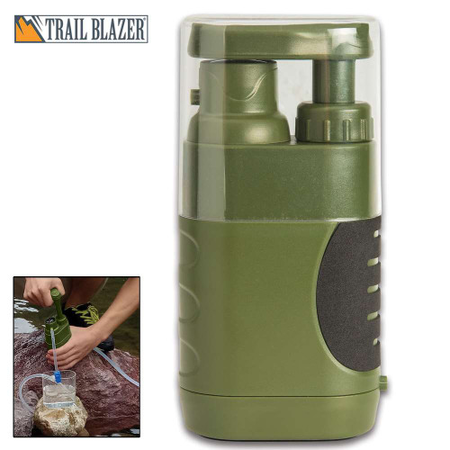 Trailblazer Pump Water Filter With Carry Bag