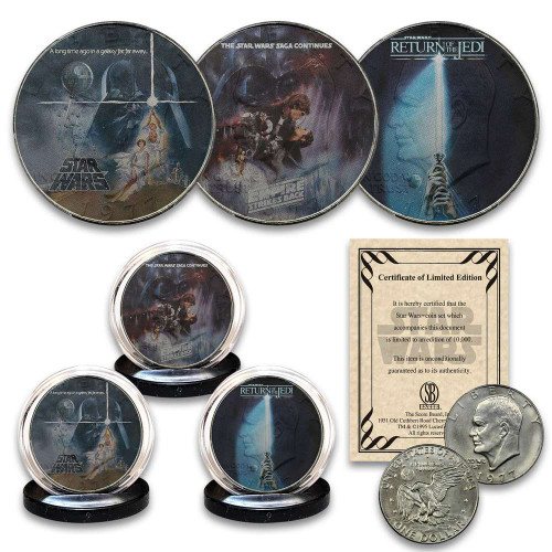 Star Wars Empire Strikes Back And Return Of Jedi Coin Set