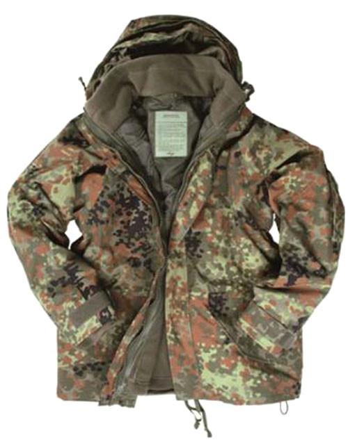 Mil-Tec Flectar Camo Trilam Wet Weather Jacket W/ Fleece Liner