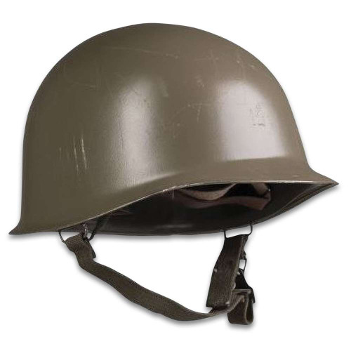 Austrian OD M1 Steel Helmet With Reproduction Liner