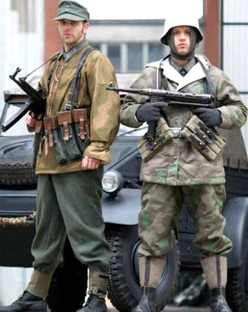 German Armed Forces Repro WWII Reversible Splinter Camo Field Jacket