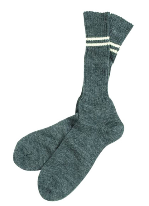 German Repro WWII Grey Wool Socks