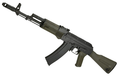 LCT Airsoft AK74M NV Full Metal Airsoft AEG with OD Green Synthetic Furniture