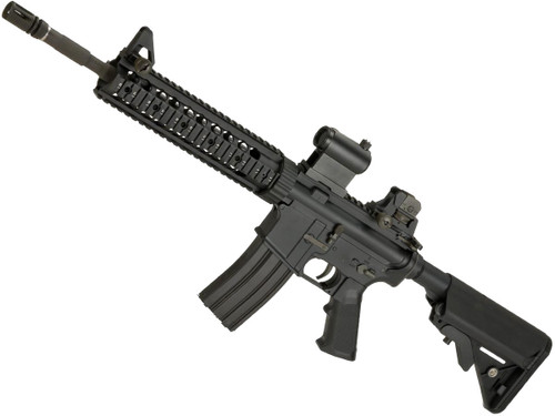 "LCT Airsoft LR-4 RIS Airsoft Electric Blowback AEG with 10"" Hanguard"