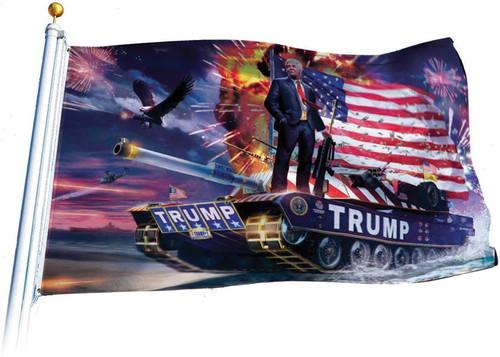 Trump Tank Flag