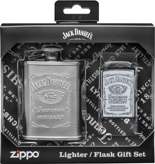 Jack Daniels Ltr & Flask Set