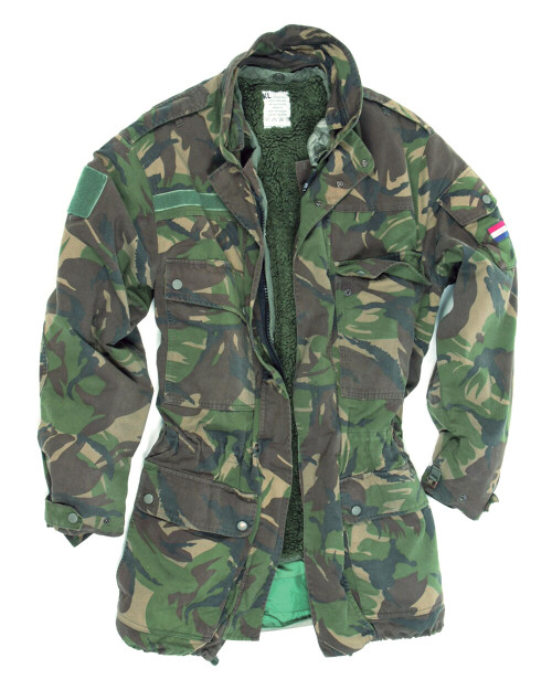 Dutch Armed Forces Camo Parka w/2-Liners