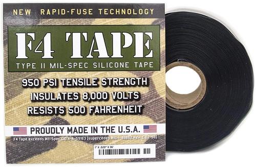 F4 Mil-Spec Silicone Tape Blk