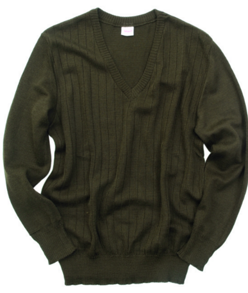 Czech Armed Forces Brown V Neck Sweater
