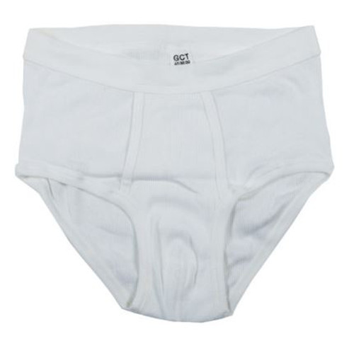 German White Ribbed Briefs