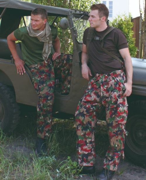 Swiss Armed Forces M70 Camo Field Pants w/Suspenders