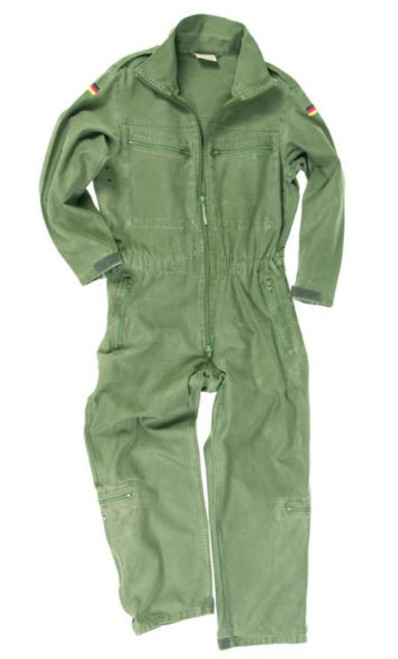 German Armed Forces OD Unlined Flight Mechanic Coverall