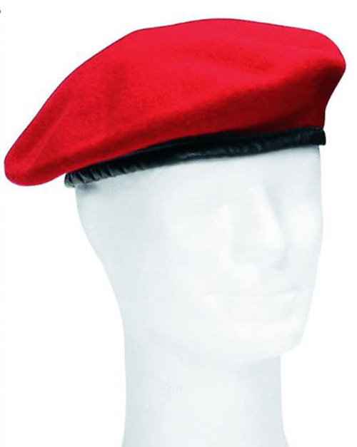 German Armed Forces Red Wool Beret
