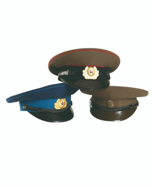 Russian Military Issue Asst Visor Hats w/Insignia