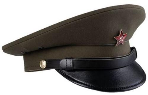 Czech Od Visor Hat W/Red Star