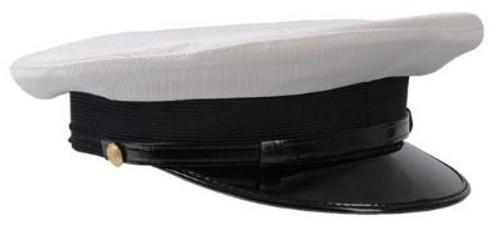 Italian White Navy Visor Hat