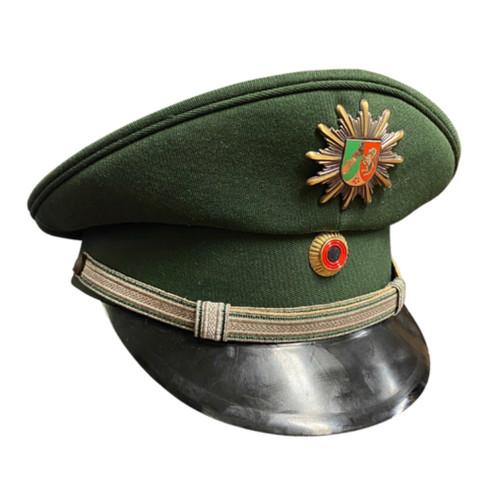 Vintage German Green Police Visor Cap - North Rhine-Westphalia