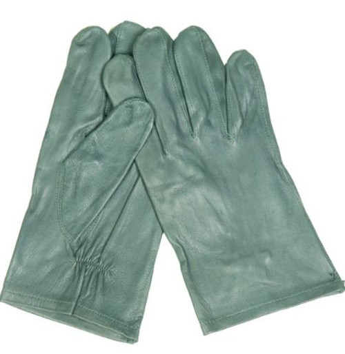 German Armed Forces Grey Unlined Leather Gloves