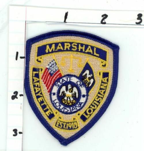 Lafayette Marshal LA Police Patch