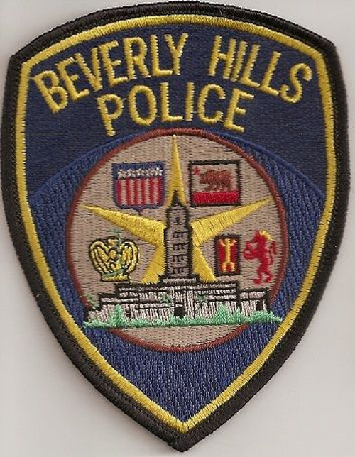 Beverly Hills CA Shield Police Patch