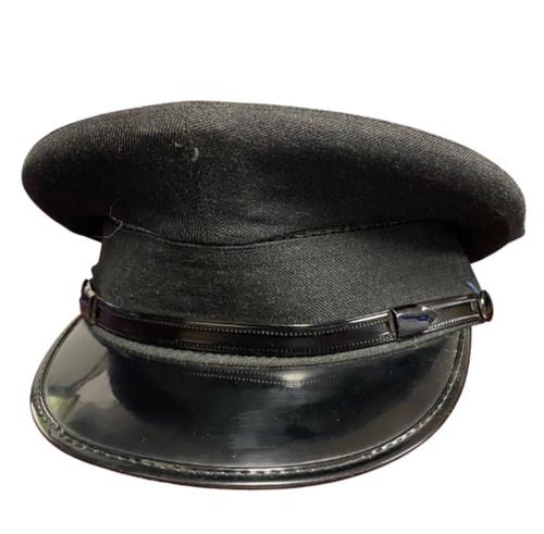 Vintage Police  Visor Cap - Black