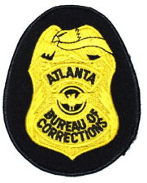 Atlanta, Georgia Bureau of Corrections Police Patch - GOLD