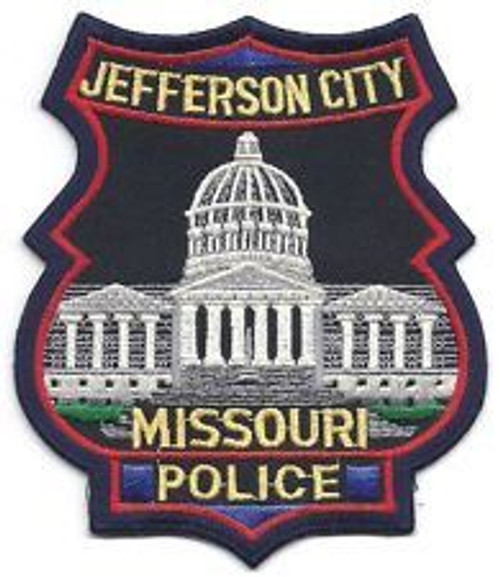 Jefferson City MO Police Patch - Small 2""