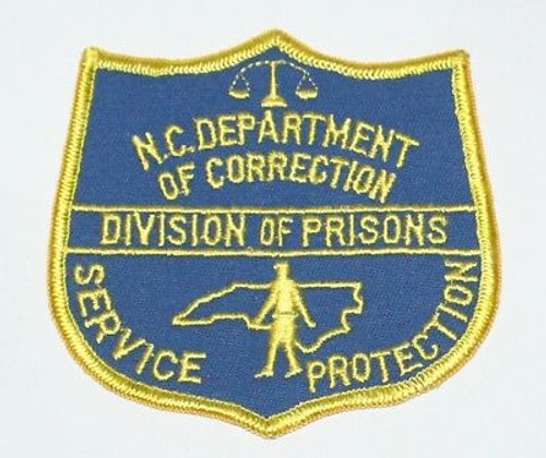Department of Correction Service Protection NC Police Patch
