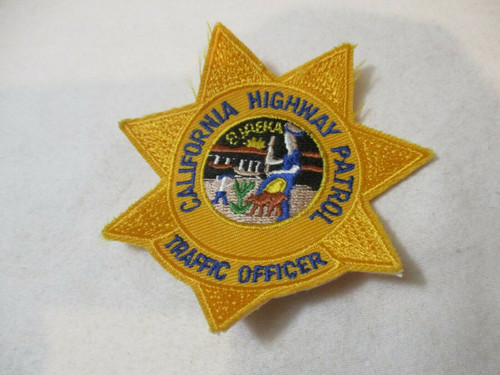 California Highway Patrol CHP Traffic Officer Police Patch