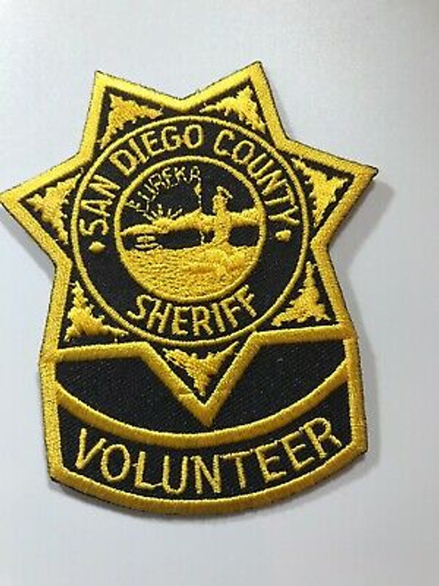 San Diego County Sheriff Volunteer CA Police Patch