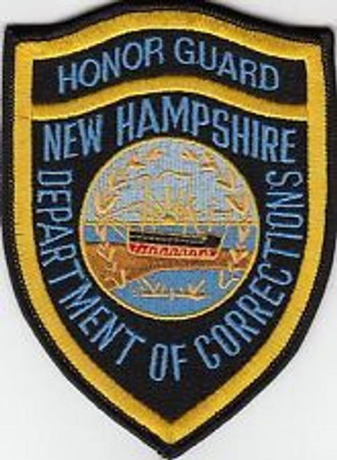 Honor Guard Dept. of Corrections NH Police Patch