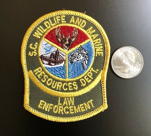 Wildlife and Marine Resources Dept. Law Enforcement SC Police Patch