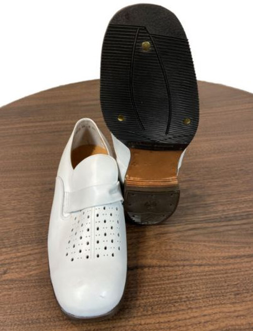 German Armed Forces White Leather Vented Dress Shoes