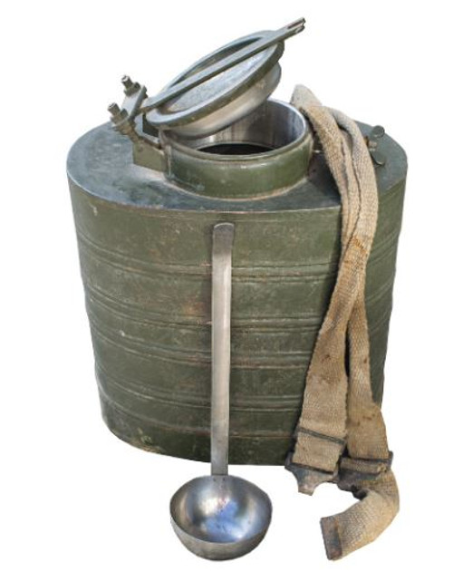 Romanian Food Container W/Ladle & Straps