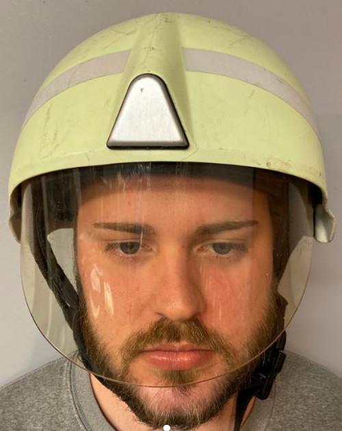 German Armed Forces Fireman Helmet W/Half Face Shield