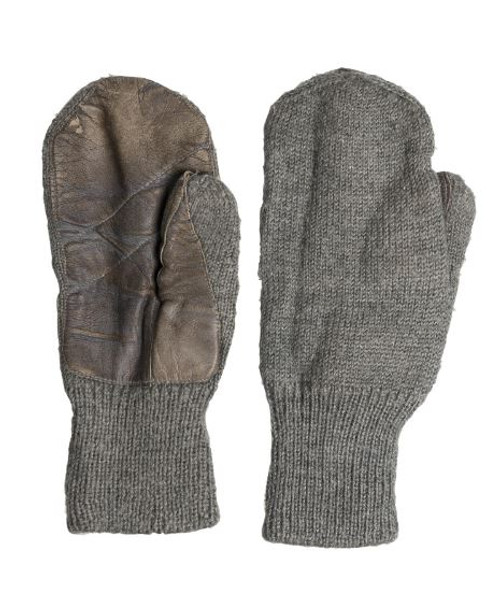 Swiss Armed Forces Wool/Ltr Mittens