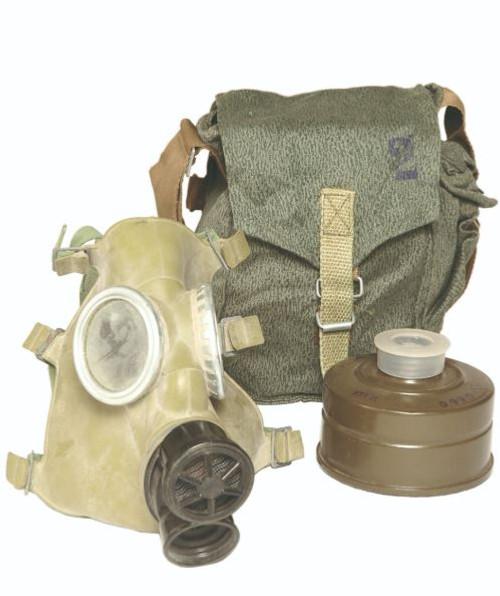 Polish Mc-1 Gas Mask W/Filter & Bag