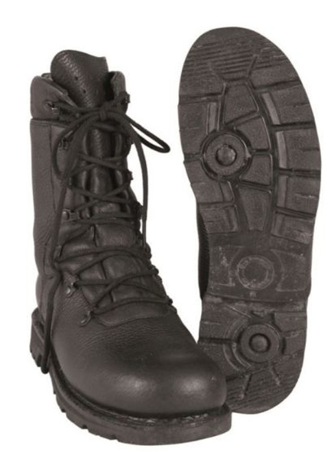 German Armed Forces Black Leather Combat Boots
