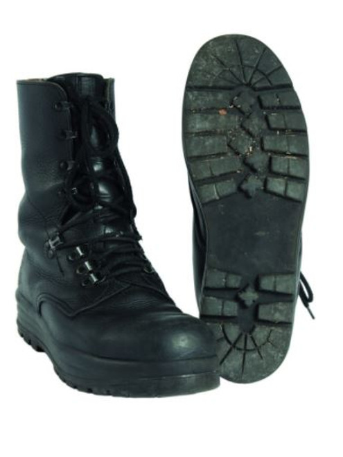 Swiss Armed Forces Black Leather Combat Boots
