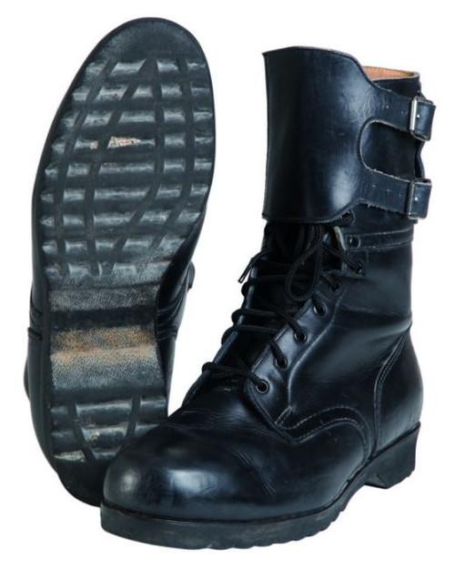 Czech Armed Forces Black M60 2 Buckle Boots