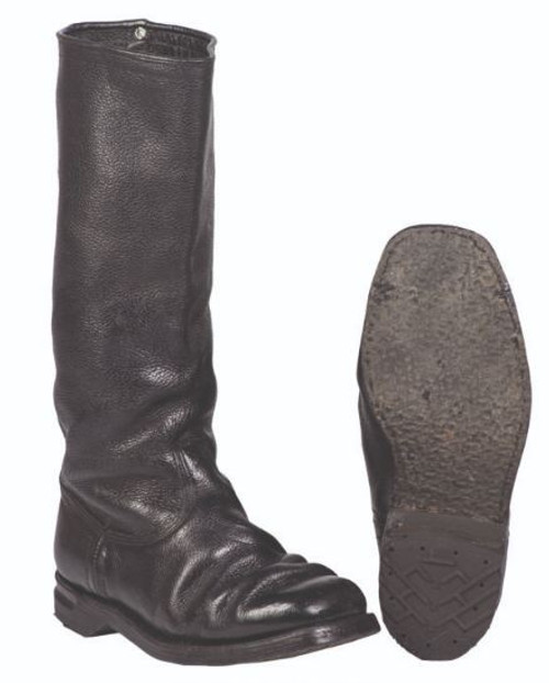 German Armed Forces Black Leather Police Riding Boots