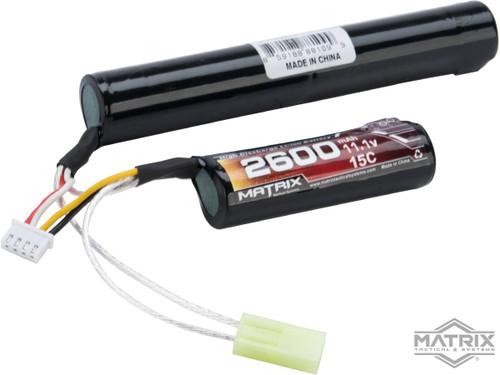 Matrix High Performance 11.1V Butterfly Type Airsoft Li-Ion Battery (Configuration: 2600mAh / 15C / Small Tamiya)