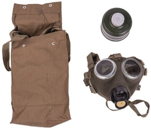 Hungarian Armed Forces Gas Mask W/ Filter & Bag