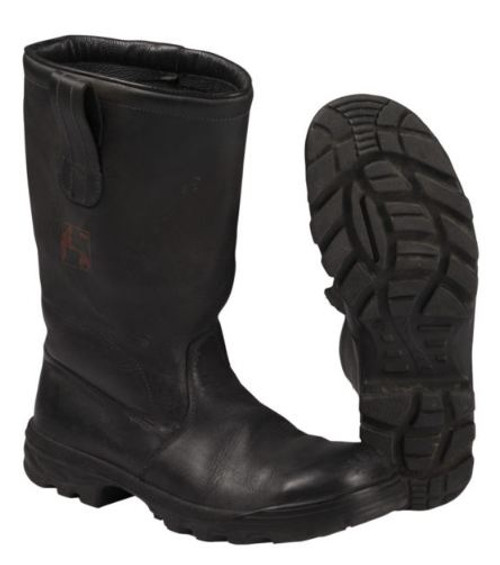 German Armed Forces Black Leather Fireman Boots
