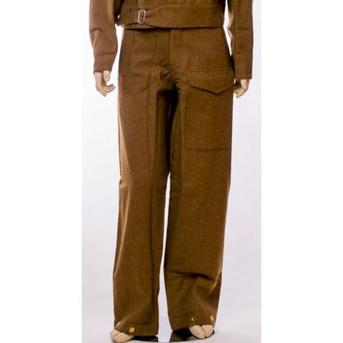 British WWII 1937 Battle Dress Wool Trousers