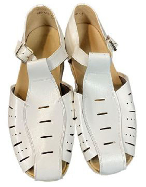 Czech  Armed Forces White Leather Sandals