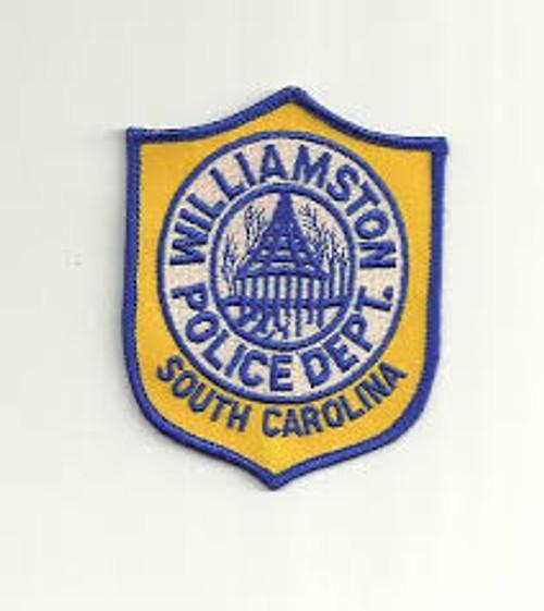 Williamston SC Police Patch
