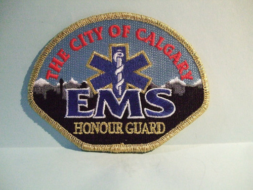 The City of Calgary EMS Honour Guard Patch