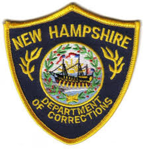 Department Of Corrections NH Police Patch - Small Shield